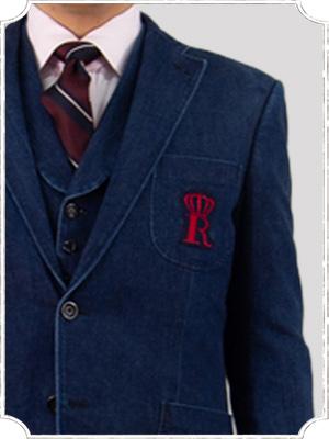 デニム生地のスーツ