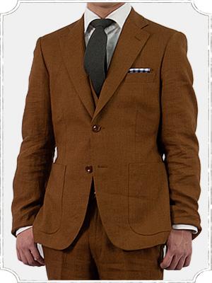 麻素材のスーツ