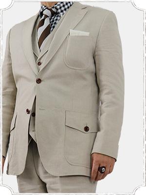 綿麻のスーツ