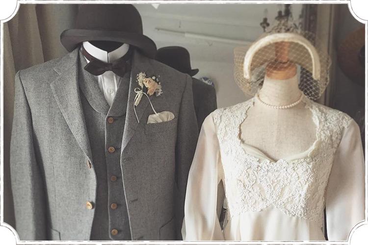 ヴィンテージウェディングスーツのイメージ