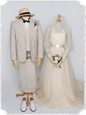ヴィンテージスタイルのスーツ